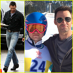 Hugh Jackman & Taron Egerton Start Shooting 'Eddie The Eagle' In Germany