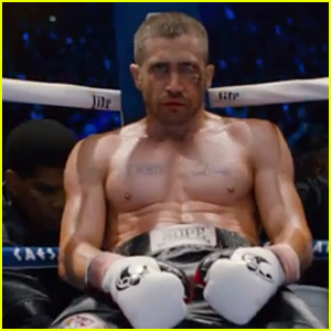 Shirtless Jake Gyllenhaal Shows Off Bruised Up Face in 'South Paw' Trailer