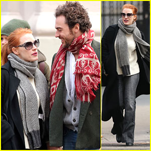 Jessica Chastain & Gian Luca Passi de Preposulo Look So In Love During NYC Walk