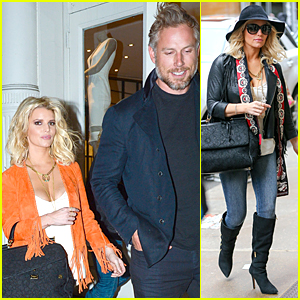 Jessica Simpson Channels Orange Cowgirl During Date Night With Eric Johnson