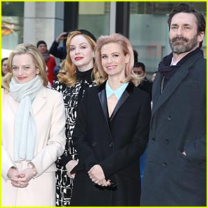 Jon Hamm & 'Mad Men' Cast Unveil Draper Bench in NYC