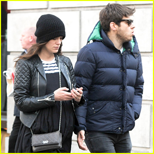 Keira Knightley Shows Off Her Growing Baby Bump While Out with Her Husband