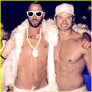 kellan lutz goes shirtless for his dirty 30 birthday party