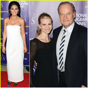 Kelsey Grammer & Emmanuelle Chriqui Premiere 'Killing Jesus' in NYC Ahead of Sunday Debut!