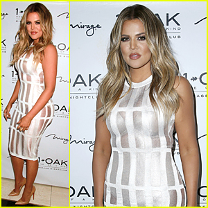 Khloe Kardashian's Sexy Sheer Dress Is Perfect For Las Vegas Nightclub Party