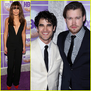 Which glee star now engaged