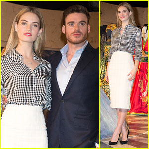 Lily James & Richard Madden Step Out For 'Cinderella' Exhibition - See The Pics!