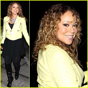 Mariah Carey Rocks Classic Curls at Dinner with Brett Ratner