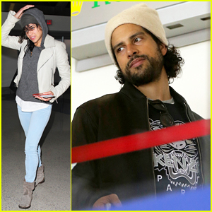 Michelle Rodriguez Meets Up with Adam Rodriguez at LAX!