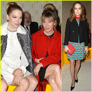 Renee Zellweger Rocks New Bangs at Miu Miu Fashion Show