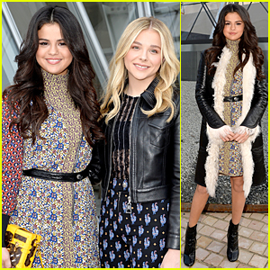 Selena Gomez & Chloe Moretz Catch Up at Louis Vuitton Fashion Show