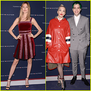 Behati Prinsloo & Rita Ora Rock Fifty Shades of Red at Tommy Hilfiger Paris Opening
