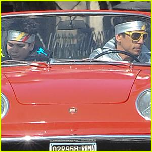 Ben Stiller & Cyrus Wear Matching Headbands For 'Zoolander 2' Car Scenes
