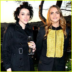 Cara Delevingne & Rumored Girlfriend St. Vincent Attend Event Together