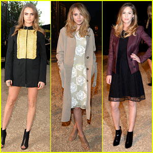 Cara Delevingne & Suki Waterhouse Buddy Up at Burberry Fashion Show!