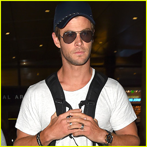 Chris Hemsworth Lands at LAX After Final 'Avengers: Age of Ultron' Trailer Release