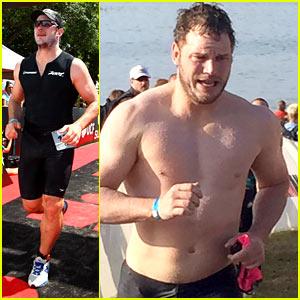 Chris Pratt Skips MTV Awards, Goes Shirtless for a Triathlon!