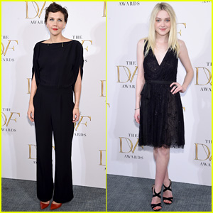 Maggie Gyllenhaal & Dakota Fanning Mingle With Hillary Clinton at DVF Awards 2015