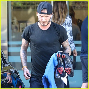 David Beckham Shows Off His Muscles For SoulCycle