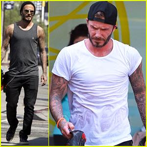 David Beckham's Shirt Turns See Through from Sweat!