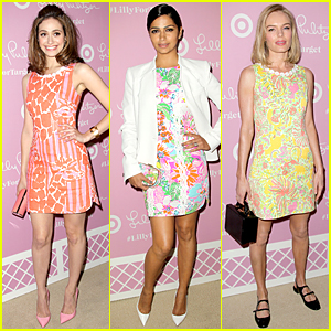 Emmy Rossum & Kate Bosworth Are Full of Colors at Lilly Pulitzer For Target Launch