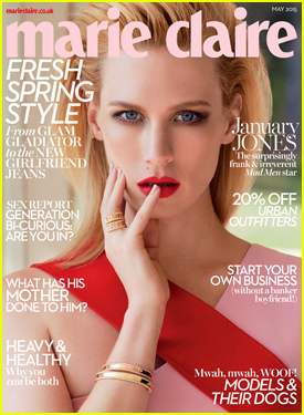 January Jones Opens Up on Marriage in 'Marie Claire UK'