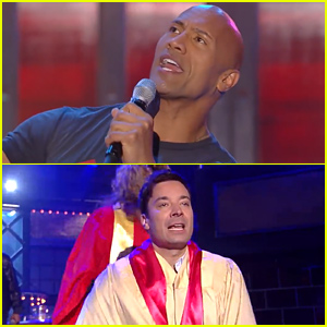 Dwayne 'The Rock' Johnson vs Jimmy Fallon on 'Lip Sync Battle' - Watch the Clips!
