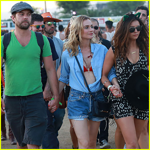 Joshua Jackson & Diane Kruger Hang With Nina Dobrev at Coachella!