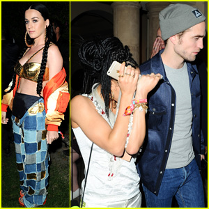 Katy Perry Parties With Pals Robert Pattinson & FKA twigs at Coachella 2015