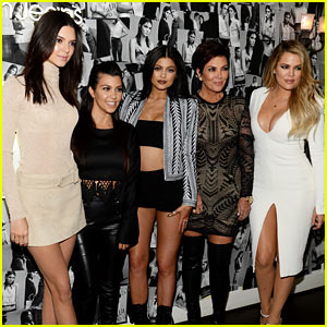 Kardashian Family Supports Kendall Jenner at Calvi