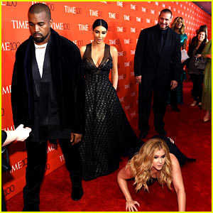 Kim Kardashian & Kanye West Pranked by Amy Schumer on Time 100 Red Carpet!