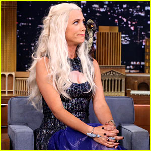 Kristen Wiig Dresses as Khaleesi for 'Jimmy Fallon' Interview - WATCH NOW!