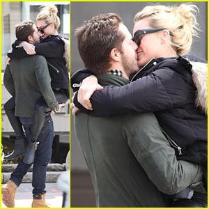 Margot Robbie Straddles Her Boyfriend Tom Ackerley in PDA Pack