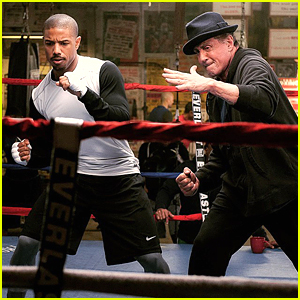 Michael B. Jordan & Sylvester Stallone Train In Boxing Ring For First 'Creed' Still