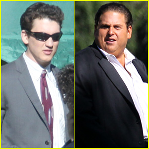 Miles Teller Suits Up With Jonah Hill for 'Arm and the Dudes' Shooting in L.A.