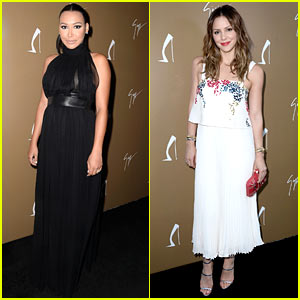 Pregnant Naya Rivera Glams Up for Giuseppe Zanotti with Katharine McPhee!