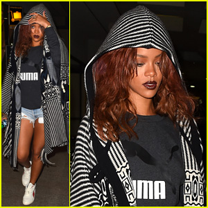 Rihanna Lands Back in L.A. After Bikini Vacation in Hawaii