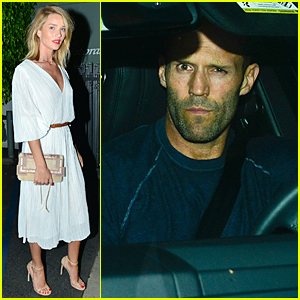 Rosie Huntington-Whiteley & Jason Statham Celebrate Her 28th Birthday at Giorgio Baldi