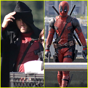 Ryan Reynolds Photographed Unmasked in the 'Deadpool' Suit!