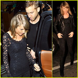 Taylor Swift & Calvin Harris Hold Hands at Haim's Concert