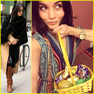 Vanessa Hudgens Goes on an Easter Egg Hunt with Her Broadway Cast