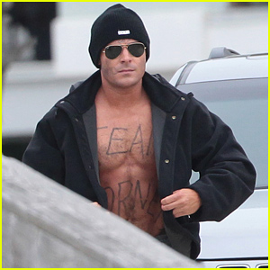 Zac Efron Shows Off His Shirtless Torso for 'Dirty Grandpa'!