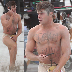 Zac Efron Runs Around Shirtless & Nearly Naked in These Amazing Photos!