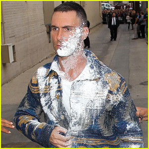 Adam Levine Flour-Bombed Outside 'Jimmy Kimmel'