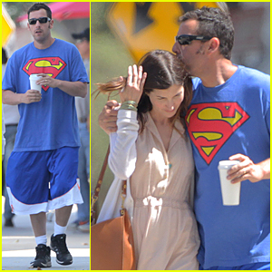 Adam Sandler & Wife Jackie Share Tender Moment After Breakfast