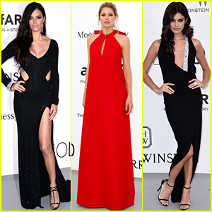 Adriana Lima Shows So Much Leg at Cannes amfAR Gala!