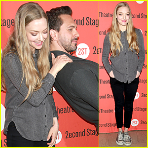 Amanda Seyfried Provides Support For Thomas Sadoski at 'Way We Get By' Photo Call