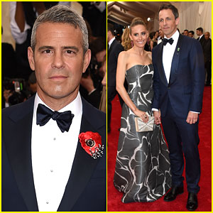 Andy Cohen & Seth Meyers are Two Dapper Dudes at Met Gala 2015