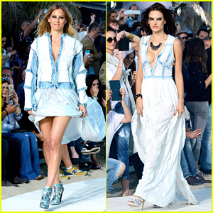 Bar Refaeli & Alessandra Ambrosio Hit The Runway in Greece for Replay Fashion Show!