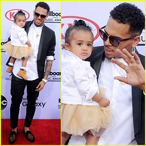 Chris Brown Brings Daughter Royalty to Billboard Music Awards 2015 (Video)
